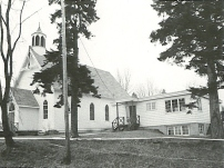 Church and new Christian Education building_Rev. F. Clappison_early 1970s